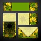 Ensemble d'identité d'entreprise de calibres floraux Image stock