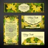Ensemble d'identité d'entreprise de calibres floraux Photo stock