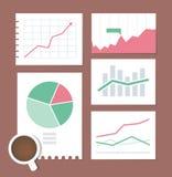Ensemble d'illustration de graphique de gestion Images stock