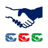 Ensemble d'illustration de poignée de main image libre de droits