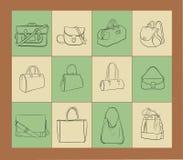 Ensemble d'illustration de sacs illustration de vecteur