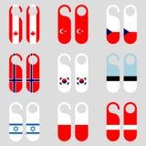 Ensemble d'illustration de vecteur de cintres de porte de drapeau Image libre de droits