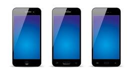 Ensemble d'illustration réaliste d'écran tactile de téléphone portable d'Android de vecteur Images libres de droits