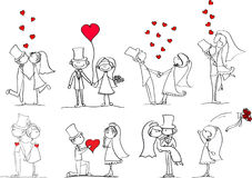 Ensemble d'illustrations de mariage illustration stock