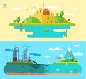 Ensemble d'illustrations plates de concept de construction Image libre de droits