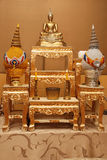 Ensemble d'image de table d'autel de Bouddha Image stock