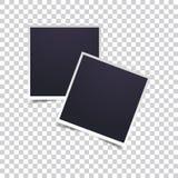 Ensemble d'image de vecteur de cadre réaliste vide de photo Rétros cadres de photo d'icône Rétro cadre de photo de vecteur Couche illustration stock