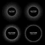 Ensemble d'image tramée abstraite blanche Dots Logo de cadre de cercle d'emblème Photos libres de droits