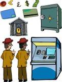 Ensemble d'images personnelles d'opérations bancaires Photo stock
