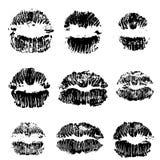 Ensemble d'impression de voie de lèvres Timbre de collection de bouche Illustration de vecteur illustration de vecteur