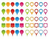 Ensemble d'indicateur de carte illustration de vecteur