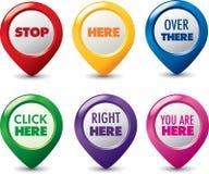 Ensemble d'indicateur de navigation Images libres de droits