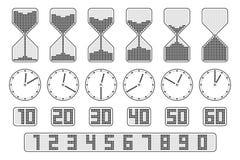 Ensemble d'indicateur de temps Photo stock