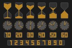 Ensemble d'indicateur de temps Images libres de droits