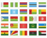 Ensemble d'indicateurs de pays africains illustration de vecteur