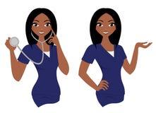 Ensemble d'infirmière de femme illustration de vecteur