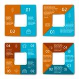Ensemble d'infographic carré Photographie stock libre de droits