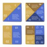 Ensemble d'infographic carré Photos libres de droits