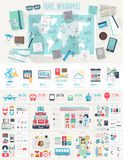 Ensemble d'Infographic de voyage Images stock