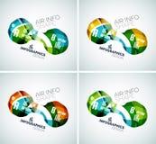 Ensemble d'infographics d'affaires de vague Image libre de droits
