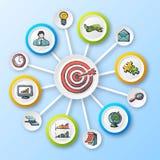 Ensemble d'Infographics de croquis Photographie stock libre de droits