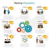 Ensemble d'Infographics de réunion illustration de vecteur