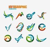 Ensemble d'infographics moderne d'affaires de vague Photos stock