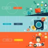 Ensemble d'infographics plat moderne d'affaires de conception Image stock