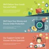 Ensemble d'infographics plat moderne d'affaires de conception Photographie stock libre de droits