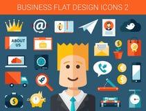 Ensemble d'infographics plat moderne d'affaires de conception Image libre de droits