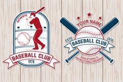 Ensemble d'insigne de club de base-ball ou de base-ball Illustration de vecteur Concept pour la chemise ou le logo, illustration libre de droits