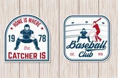 Ensemble d'insigne de club de base-ball ou de base-ball Illustration de vecteur Concept pour la chemise ou le logo, illustration de vecteur
