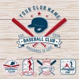 Ensemble d'insigne de club de base-ball ou de base-ball Vecteur Concept pour la chemise ou le logo, copie, correction, timbre Typ illustration de vecteur