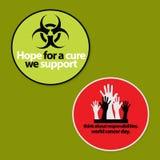 Ensemble d'insigne de conscience de 2 Cancers Image libre de droits