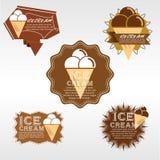 Ensemble d'insigne de crème glacée. Image libre de droits