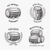 Ensemble d'insigne de vintage pour la maison de bière Photographie stock libre de droits