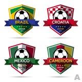 Ensemble d'insigne du football (le football) illustration de vecteur