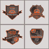 Ensemble d'insigne Logo Templates de basket-ball Photos stock