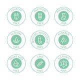 Ensemble d'insignes d'Eco illustration stock