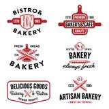Ensemble d'insignes de boulangerie Photo stock