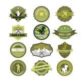 Ensemble d'insignes de forces militaires et armées Photographie stock