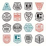 Ensemble d'insignes de sports Image stock