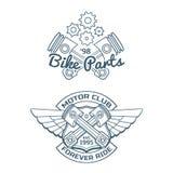 Ensemble d'insignes de vecteur de cycliste Photo stock