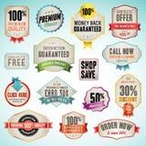 Ensemble d'insignes et d'étiquettes Image libre de droits