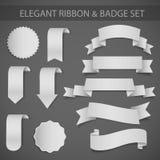 Ensemble d'insignes et de collants d'étiquettes Illustration de vecteur illustration de vecteur