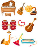 Ensemble d'instruments illustration stock