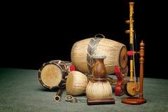 Ensemble d'instruments de musique thaïlandais Images stock