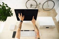 Ensemble d'interface de présentation d'écran tactile Images libres de droits