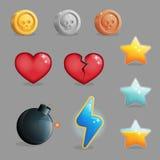 Ensemble d'interface utilisateurs d'icônes de jeu illustration libre de droits