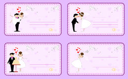 Ensemble d'invitations de mariage Photos stock